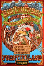 Vintage Disney  ( Big Thunder Mountain Railroad ) Collector's Print - B2G1F