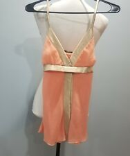 Twenty One Tank Top Cami Womens Size Small Peach Tan Sheer -001