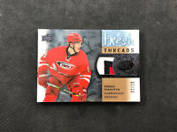 2015-16 UPPER DECK ICE NOAH HANIFIN ROOKIE FRESH THREADS PATCH GOLD #ed 2/10