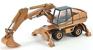 Case 988 HYDR - Wheeled Excavator 1/87th Scale H0 Gauge Yellow/Black - RM48 Post