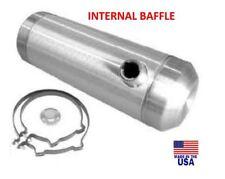 8x40 End Fill Spun Aluminum Round Gas Tank - Internal Baffle - Ratrod -  3/8 NPT