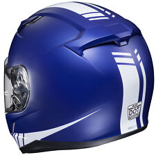 HJC CL-17 Streamline Motorcycle Helmet Blue / White L LG Large Snell M2015