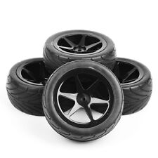 90mm Rubber Buggy Racing Front Rear Tire Wheel Rims 4Pcs For RC 1:10 On-Road Car
