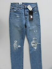 NEW Levi's 501 Original Jeans Womens Size W26 L32 High Rise Straight Light Blue