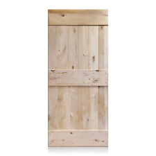 """Pablo Design - Rustic Unfinished Knotty Alder Barn Door 36""""x96"""" (Free Shipping)"""