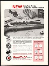 1967 REDFIELD 4x-12x Rifle Scope Vintage Print AD Old Advertising Page