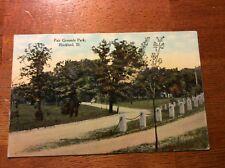 Postcard Rockford, Ill. Fair Grounds Park.