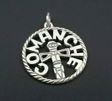 Retired Size James Avery Sterling Silver Comanche Camp Disk Charm Pendant PS1472