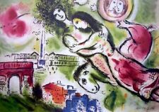 Romeo & Juliette, Limited Edition Offset Lithograph, Marc Chagall