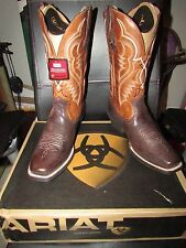 Ariat Western Boots Mens Bronc Buster Square Toe 11 EEW Brown 10016286 BNIB NEW