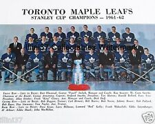 1961-62 TORONTO MAPLE LEAFS STANLEY CUP CHAMPIONS 8X10 TEAM PHOTO