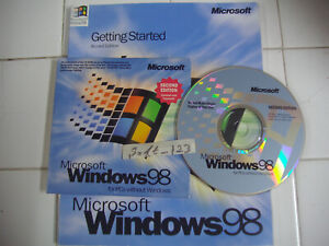 MICROSOFT WINDOWS 98 SECOND EDITION FULL OPERATING SYSTEM WIN 98 SE =NEW=