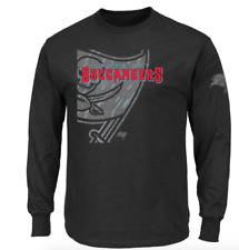 New Men's NFL Tampa Bay Buccaneers T-Shirt Size M Majestic Reflective Black