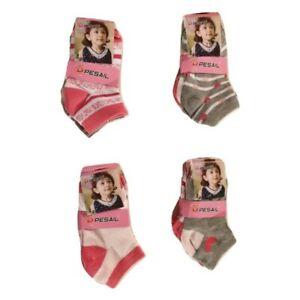 Lot 6 paires socquettes enfant ,chaussettes filles 90% coton
