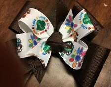 Girl Scout Hair Bow Boutique Pinwheel Handmade Toddler Clip Girl Brownie Troop