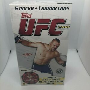 2010 Topps UFC Series 4 Factory Sealed Blaster Box w/ Octagon Chip!