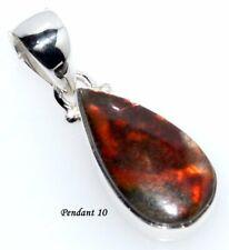 Ammolite Sterling 925 Silver Pendant, Unique RARE Natural Gemstone Jewellery NEW