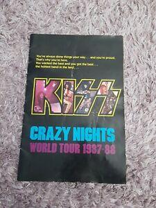 Kiss 1987 Crazy Nights tour Program...glam Rock