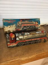 Vintage Silver Mountain Express 3525 Tin Toy Train Made In Japan