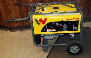 Wacker Neuson GP6600 Premium Portable Generator w/ Wheel Kit - HONDA Engine