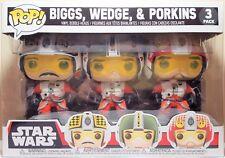 Funko Pop 3 Pack Star Wars Red Squadron Wedge, Biggs & Porkins Brand New