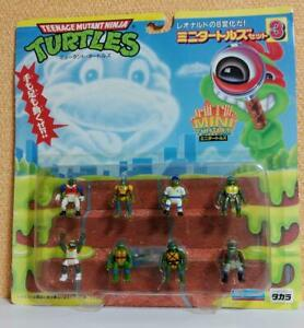 Teenage Mutant Ninja Turtles Mini Turtle Set No.3 TAKARA Playmates Leonardo TMNT