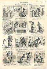 Paris Livret de Salon par Renan & Diable Général Hoche Dessin Cham GRAVURE 1866