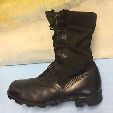 US Military Army Ladies Combat Black Leather Boots Size 9 R