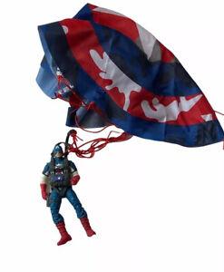 Marvel 2011 Captain America First Avenger Paratrooper Dive Parachute Figure Toy