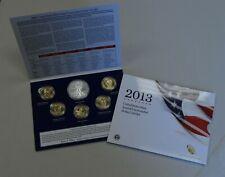 "2013 Annual Unc Dollar 6 Coin Set Silver Eagle Sacagawea Presidential ""BU"""