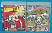 Borderlands 1 + 2 Game Lot Sony PlayStation 3 PS3 Working Complete Tested