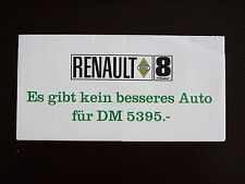 Prospekt Renault  R8 Major 1964