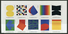 USA 2019 MNH Ellsworth Kelly American Painter 10v S/A Block Art Paintings Stamps
