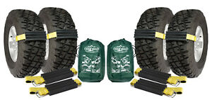 4 Pk Large Trac-Grabber TRUCK SUV Unstuck Emergency Traction Mud Snow Tire Chain