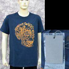 Alexander McQueen New sz XS Authentic Designer Mens Skull T-Shirt T Shirt blue