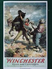 Winchester Repeating Arms. Co.,Guns & Cartridge, Advertising Poster,Western Art