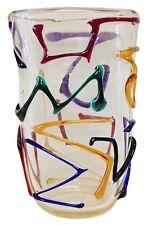 Murano, Vaso Multicolor Oro, Cristallo-Vetro, Arte di Murano