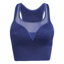 Women Sexy Racerback Sports Bra High Impact Fitness Yoga Mesh Tank Top New