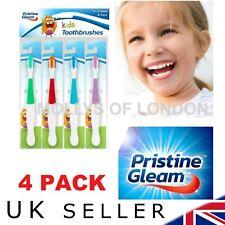 4 x childs childrens kids Toothbrush Medium to Soft Bristles. THICK.. NEW