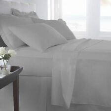 Scala Bedding Items Queen/King/Cal King 1000TC Egyptian Cotton Silver Grey Solid