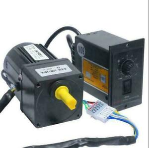 220V 25W AC Gear Motor Electric Motor Variable Speed Controller 1:10 125 RPM/MIN