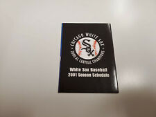 RS20 Chicago White Sox 2001 MLB Baseball Pocket Schedule - Miller Lite