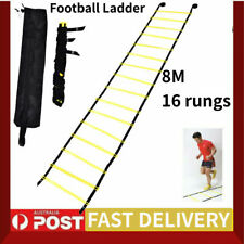 8M 16 Rung Agility Ladder Exercise Speed Football Fitness Feet Training Bag AU