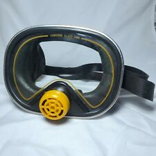 Vintage 1984 Dolfino Seadive Diving Mask with Tempered Glass Model Ds 1725