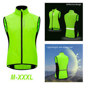 Waterproof Reflective Safety Vest with Pocket for Walking Cycling Motorcycle