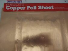 """12x12"""" COPPER SHEET 1.25 mil Self Adhesive Venture Tape Stained Glass Supplies"""