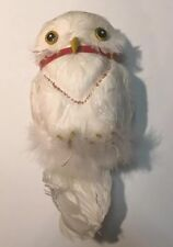 Hedwig Owl With Wire Harry Potter 2001 Rare Costume Accessory