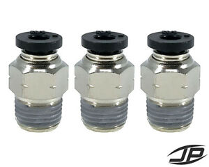 Tailonz Pneumatic Straight Pack of 10 4MM Tube OD Push to Connect Tube Fittings Push Lock PU-4