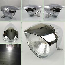 Chrome Bullet Headlight for Honda Magna 750 Shadow 600 750 1100 VT750