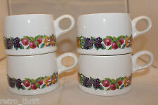 Wedgwood Hereford Set of 4 Flat Coffee Tea Mug Cups Made in England Oven Stove